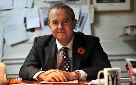 Ian Hislop in his office
